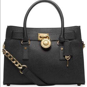 NWT MICHAEL KORS Hamilton Leather satchel
